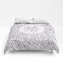lion zentangle Comforters