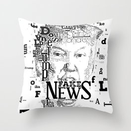 Donald Trump Fake News Throw Pillow