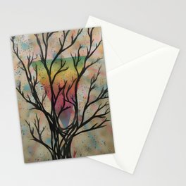Colors through the trees Stationery Cards