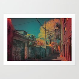 Montreal Alley Infrared 01 Art Print