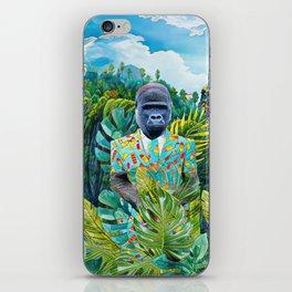 Gorilla in the jungle iPhone Skin