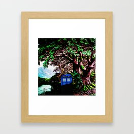 Tardis And Dr.Who 1 Framed Art Print