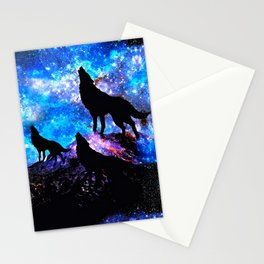 Wolf Trio Stationery Cards