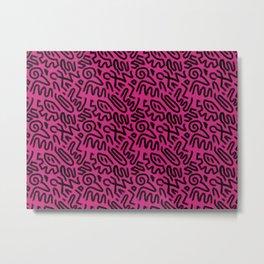Urban 80s Style in Hot Pink Metal Print