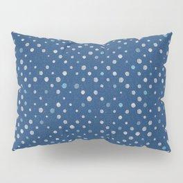 LOTS OF DOTS / indigo blue / linen beige / light blue Pillow Sham