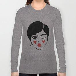 wink kiss Long Sleeve T-shirt