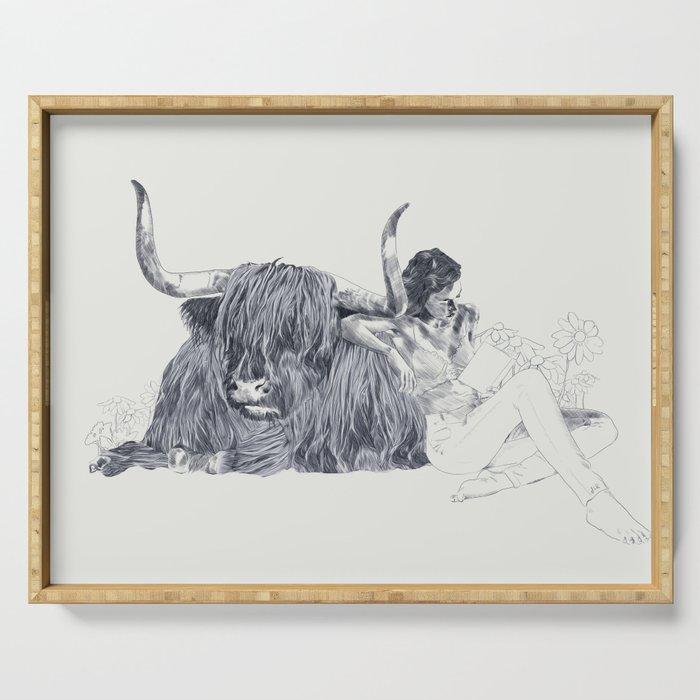 A Wandering Bull (Taurus) Serving Tray