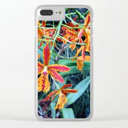 Petite Sunset Flowers Clear iPhone Case