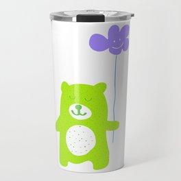 Green bear Travel Mug