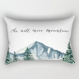 She Will Move Mountains Rectangular Pillow