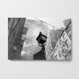 New York Street Life Metal Print