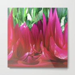 379 - Abstract Flower Design Metal Print