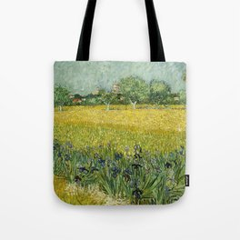 Field with Flowers near Arles by Vincent van Gogh Tote Bag
