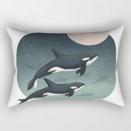 moonlight caravan // orcas Rectangular Pillow