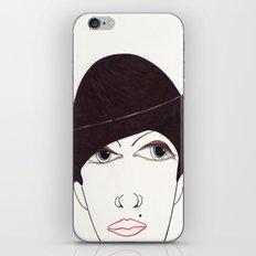 girl in a hat iPhone & iPod Skin
