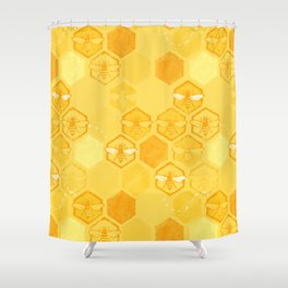 Dance of Bees Shower Curtain