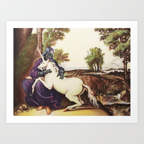 Vader and Unicorn Art Print