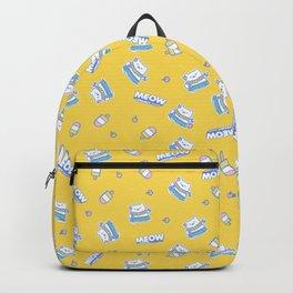 Bright Yellow Hula Cat Illustration Backpack