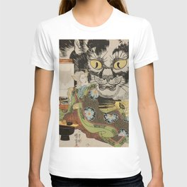 THE CAT WITCH - UTAGAWA KUNIYOSHI  T-shirt