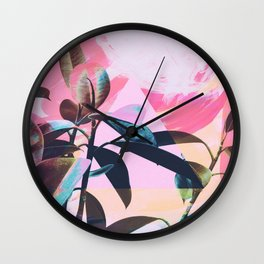 Painted Botanics Wall Clock