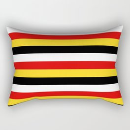 East Timor Papua New Guinea flag stripes Rectangular Pillow