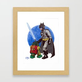 Bat Skywalker Framed Art Print