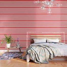Coral Stripes Wallpaper