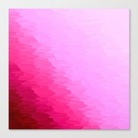 hot pink Canvas Prints featuring Pink Ombre by SimplyChic