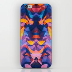 Abstract Surreal Chaos theory in Modern Blue / Orange iPhone Skin