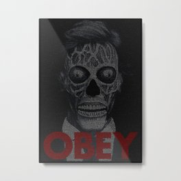 They Live. Obey. Screenplay Print. Metal Print