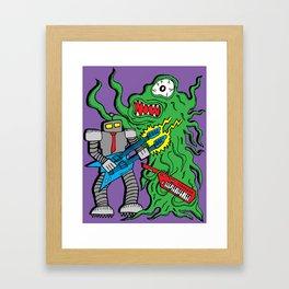 Robot Monster Power Jam Framed Art Print