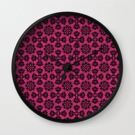 Pink Yarrow Floral Wall Clock