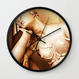 Statue thoughtful Wall Clock