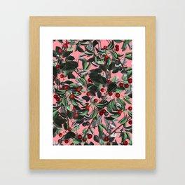 Vintage Fruit Pattern IV Framed Art Print