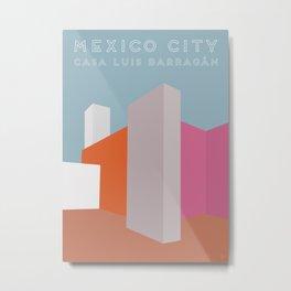 Mexico City, Casa Luis Barragán Travel Poster Metal Print