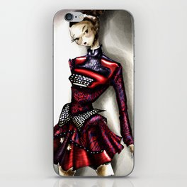 Mary Ktrantzou Typo dress iPhone Skin