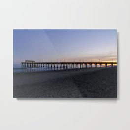 Sunset at Tybee Island Pier Metal Print