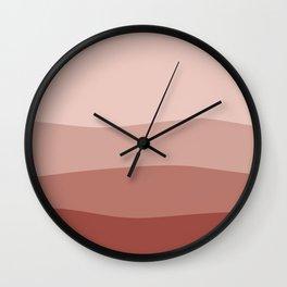 Sangria Color Waves Wall Clock