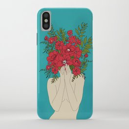 Blooming Red iPhone Case