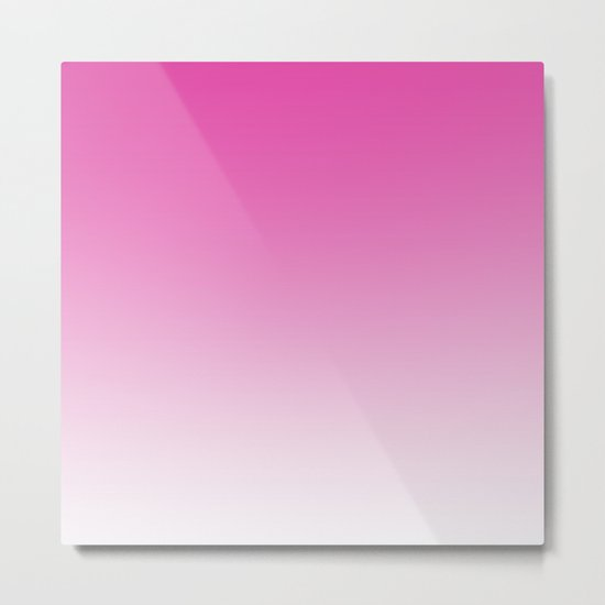 Simply girly pink color gradient - Mix and Match with Simplicity of Life Metal Print