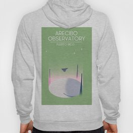 Arecibo Observatory space art Hoody
