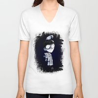bed V-neck T-shirts featuring Bed Time by artlandofme