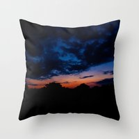 kansas Throw Pillows featuring Kansas Sunset by Alden Heck