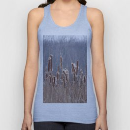 Cattails in Summer Unisex Tank Top
