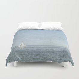 Sunday Sail  - Cape Cod Duvet Cover
