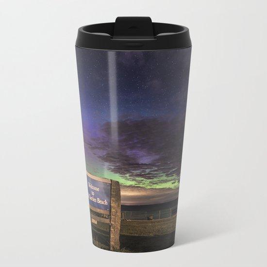 May Aurora at Old Garden Beach Metal Travel Mug