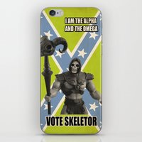 skeletor iPhone & iPod Skins featuring Vote Skeletor by Itomi Bhaa