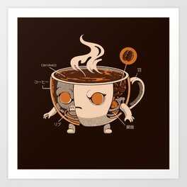 Coffeezilla X-ray Art Print