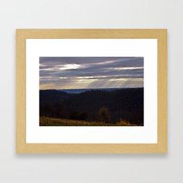 Hazy Outlook Framed Art Print