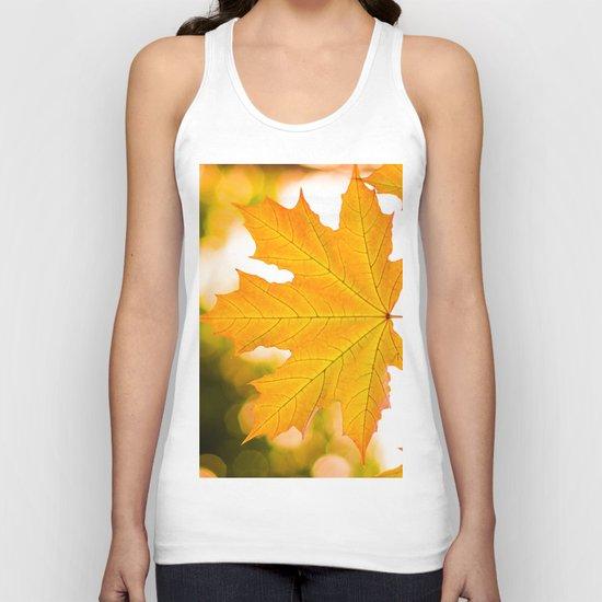 Autumn gold Unisex Tank Top